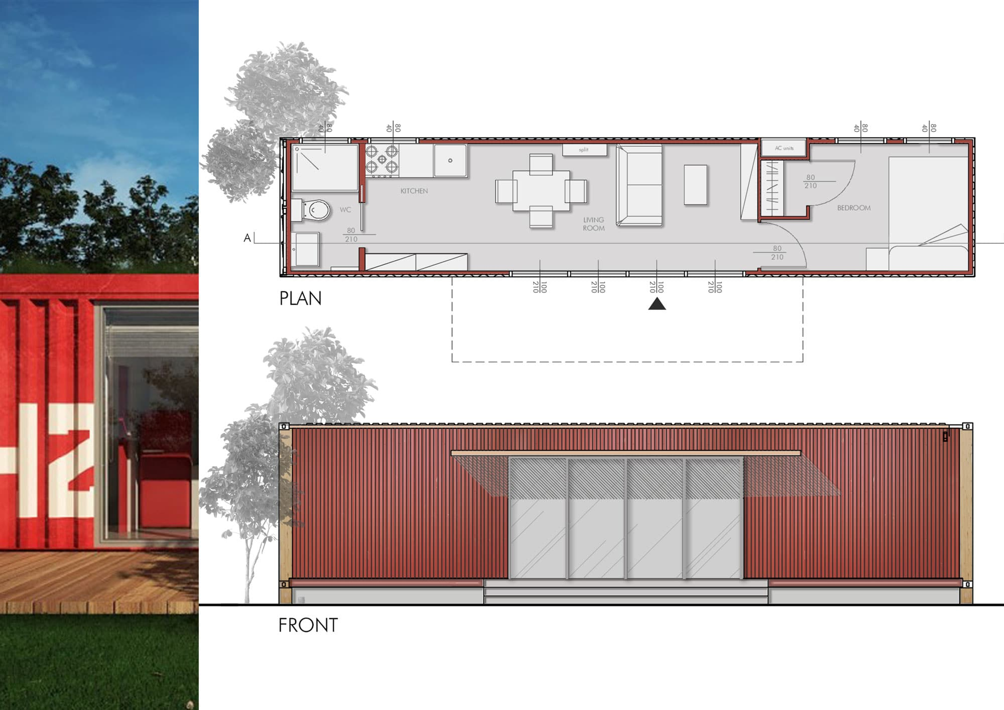 Design for a modern house in a container architects srl for Finding an architect for a remodel